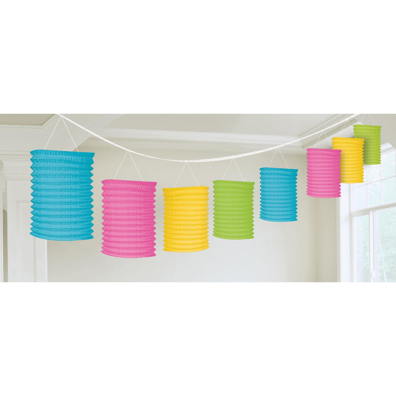 Girlanda kolorowe lampiony / 365 cm
