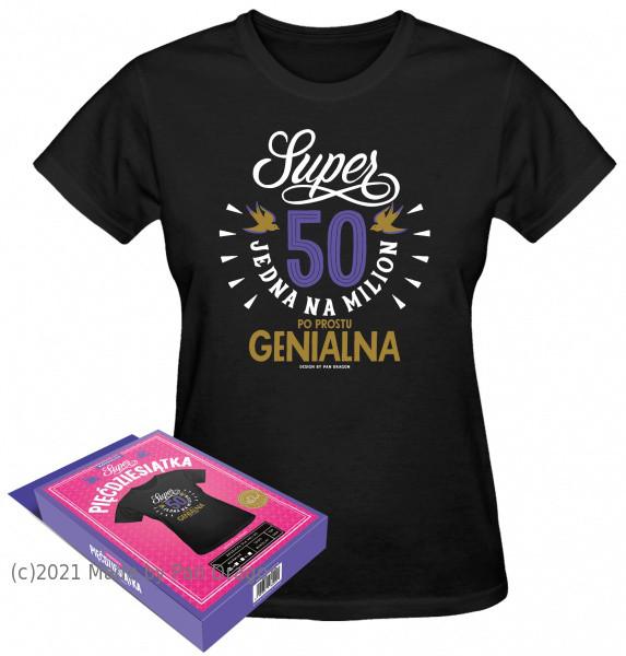 """Koszulka na 50 urodziny - """"Jedna na milion""""/ rozm. M"""