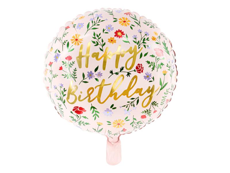 Balon foliowy Happy Birthday / 35 cm
