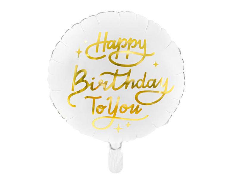"Balon foliowy ""Happy Birthday To You"" / 35cm"