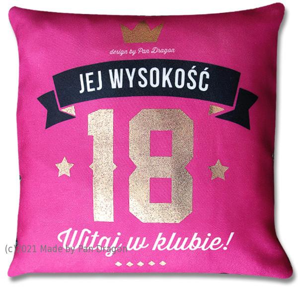 Poduszka dla Niej na 18 urodziny