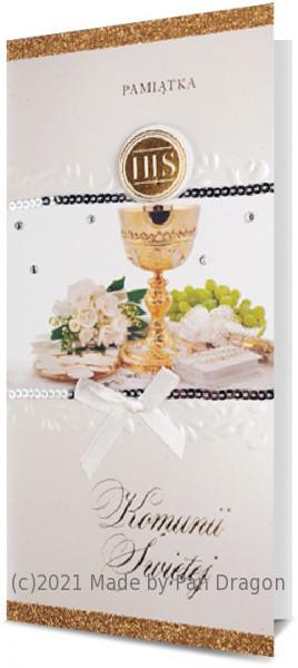 Kartka z życzeniami na Komunię / K.DL PREMIUM-04