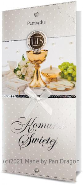 Kartka z życzeniami na Komunię / K.DL PREMIUM-05