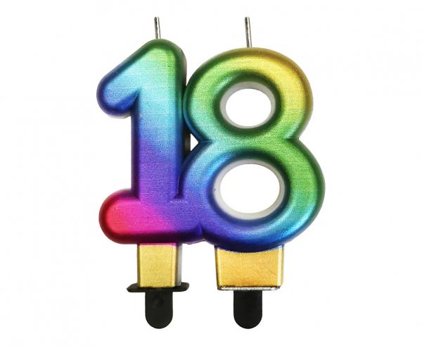 Świeczka urodzinowa liczba 18