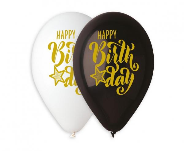 "Balony lateksowe 13"" ""Happy Birthday"""