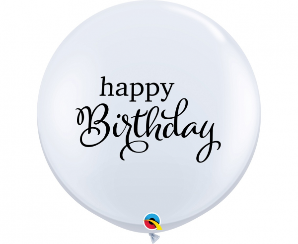"Balony lateksowe QL 36"" ""Happy Birthday"""