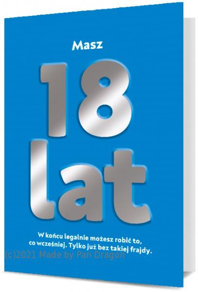 Ogromna kartka urodzinowa na 18 urodziny / K.MEGA-117