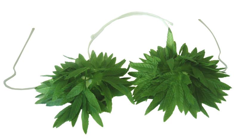 Stanik z liści z tropiku