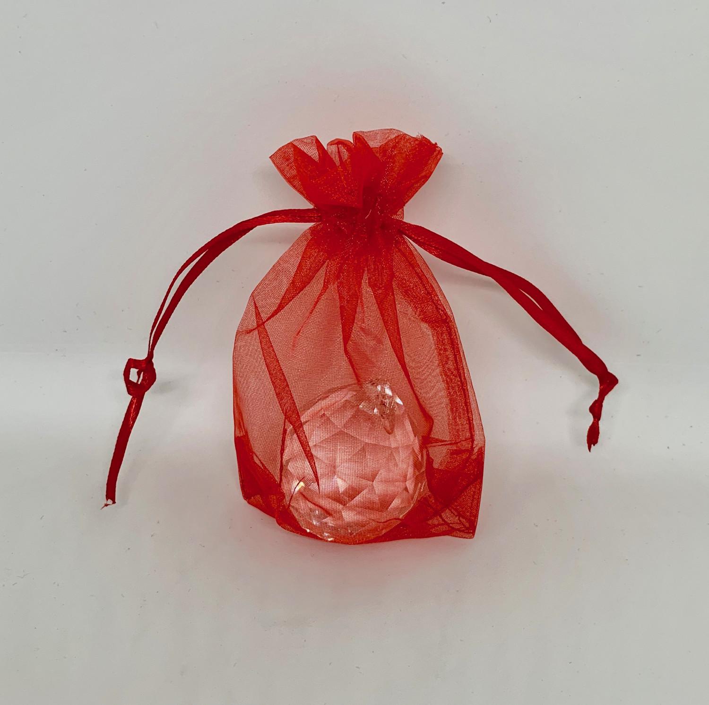 Czerwone woreczki z organzy / 7,5x10 cm