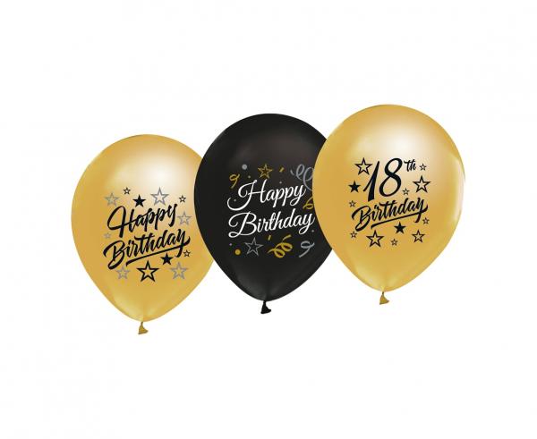 Zestaw balonów lateksowych na 18 urodziny