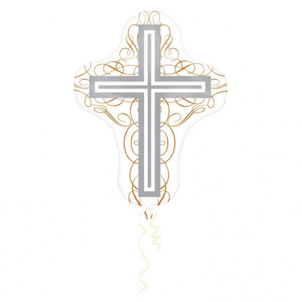 Balon foliowy Krzyż / 58x71 cm