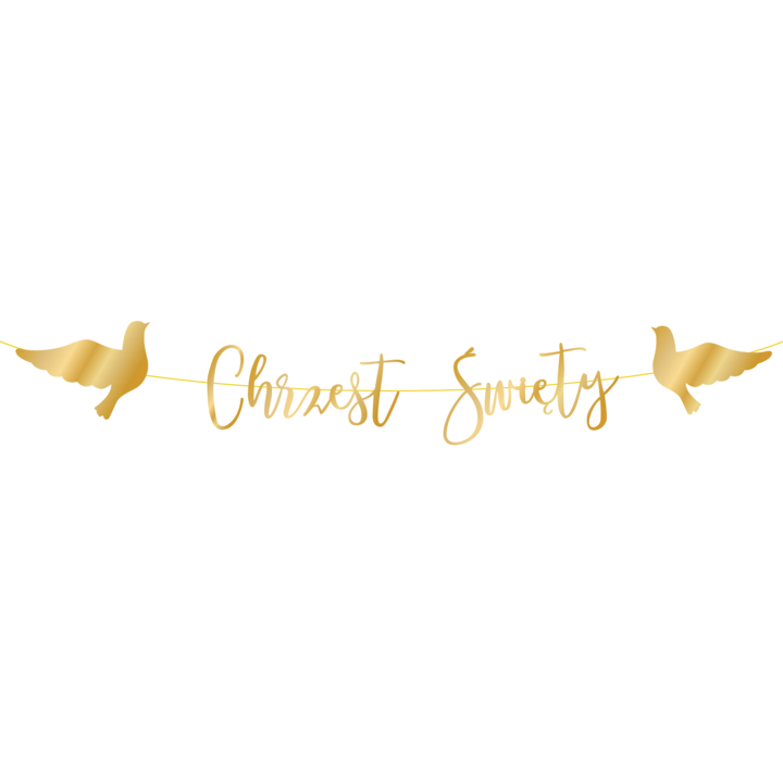 Baner Chrzest Święty - Złoty