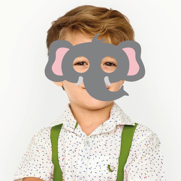 Maska filcowa Słoń