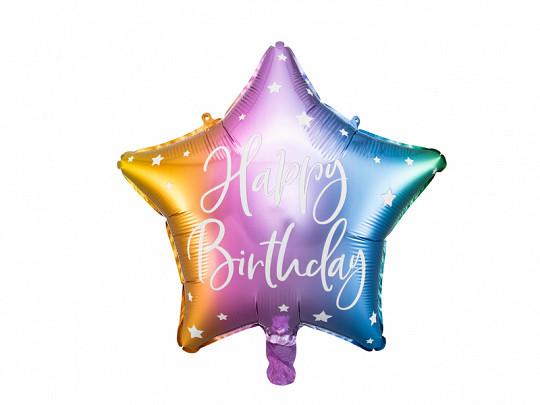 """Balon foliowy 40 cm """"Happy Birthday"""" / FB93-000"""