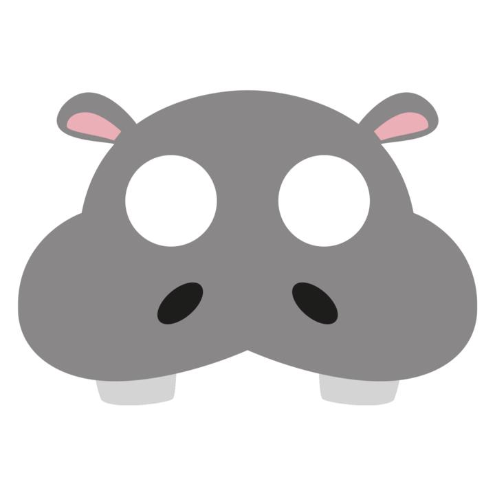 Maska filcowa Hipopotam