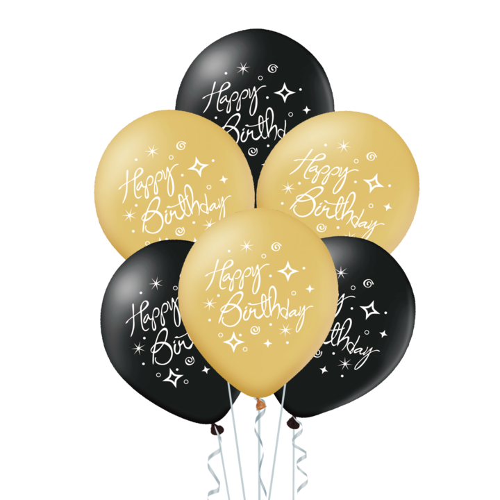 "Balony lateksowe 12"" ""Happy Birthday"" / 400885"