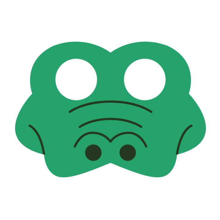 Maska filcowa Krokodyl