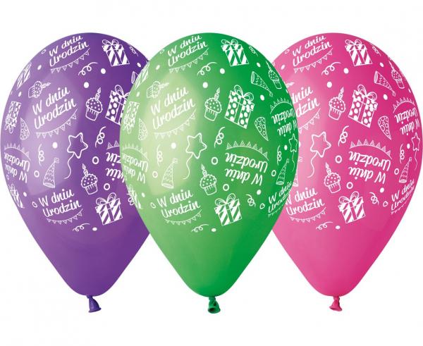 """Balony lateksowe """"W Dniu Urodzin"""""""