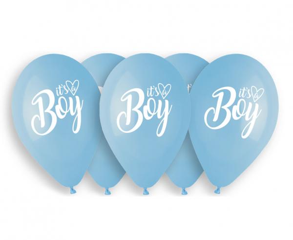 """Balony lateksowe 13"""" niebieskie """"It is a Boy"""""""