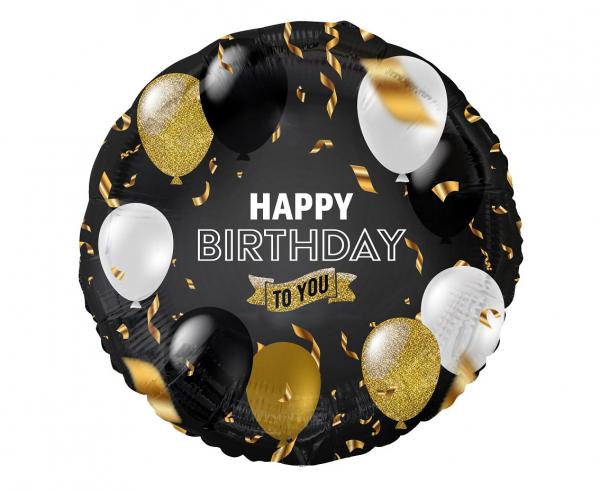 """Balon foliowy w baloniki """"Happy Birthday to You"""" / 45 cm"""