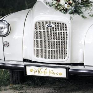 Dekoracje auta na ślub i wesele