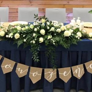 Girlandy i banery na ślub i wesele