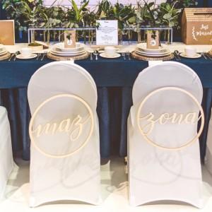 Zawieszki na krzesła Pary Młodej na ślub i wesele