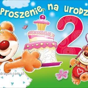 Zaproszenia na 2 urodziny