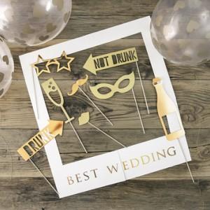 Akcesoria do fotobudki na ślub i wesele