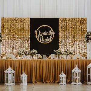 Dekoracje stołu Pary Młodej na ślub i wesele