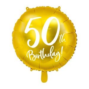 Balony foliowe na 50 urodziny