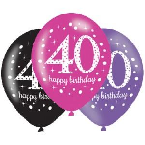 Balony lateksowe na okrągłe urodziny