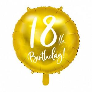 Balony na 18 urodziny foliowe
