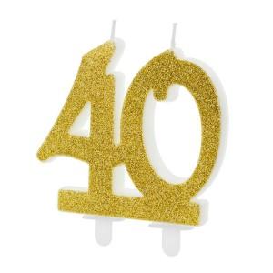 Świeczki na 40 urodziny na tort