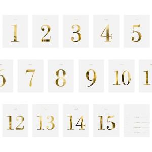 Numery na stoły na 18 urodziny