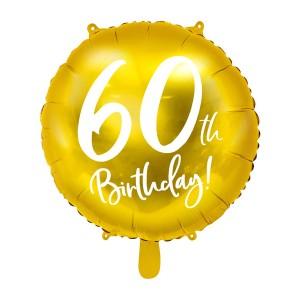 Balony foliowe na 60 urodziny