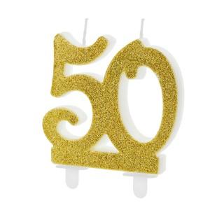 Świeczki na 50 urodziny na tort