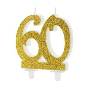 Świeczki na tort na 60 urodziny
