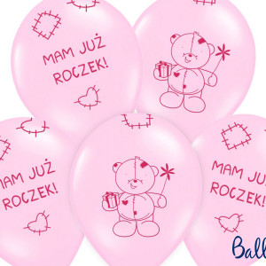 Balony na Roczek lateksowe