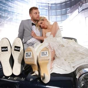 Naklejki na buty na ślub i wesele