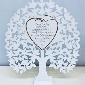 Podziękowania dla świadków na ślub i wesele