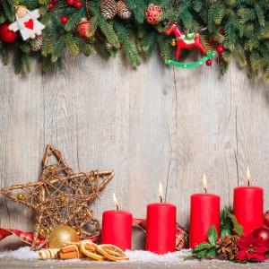 Świeczki  i świeczniki na Boże Narodzenie
