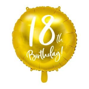 Balony 18 - kształty z liczbami i napisami