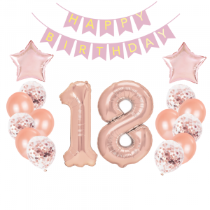 Zestawy balonów na 18 urodziny