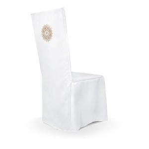 Pokrowce na krzesła i klęczik na I Komunię Świętą