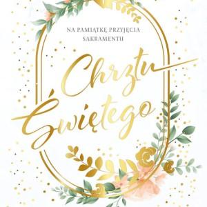 Kartki i pamiątki na Chrzest Święty