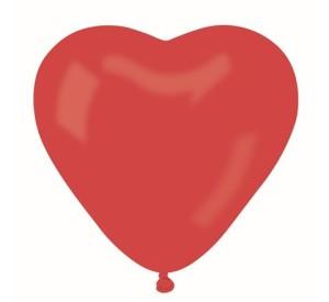 "Balon CR pastel ""Serce bez nadruku"" - czerwony 45 ,"