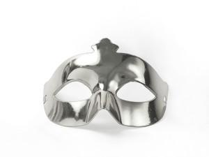 Maski Weneckie - Maska karnawałowa Wenecka srebrna metaliczna / MAS1-018