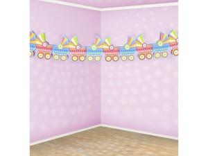 """Girlandy kształty - Girlanda na przywitanie dziecka """"Wózeczki"""" / 3 m"""