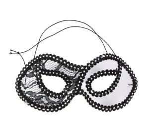 Maski - Maska Dama z koronką, srebrna